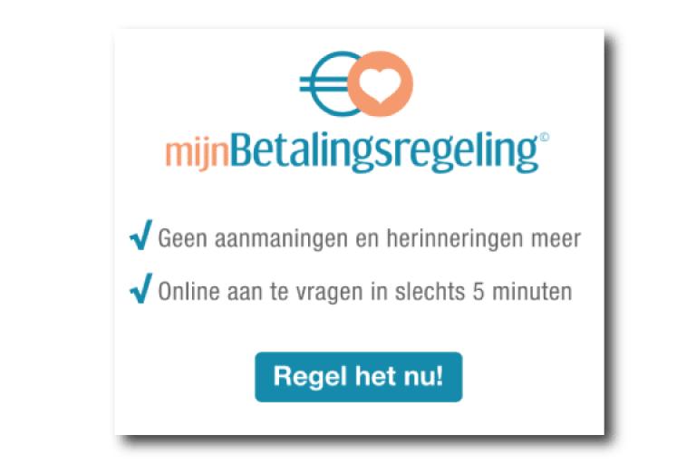 HTML5 banner mijnBetalingsregeling