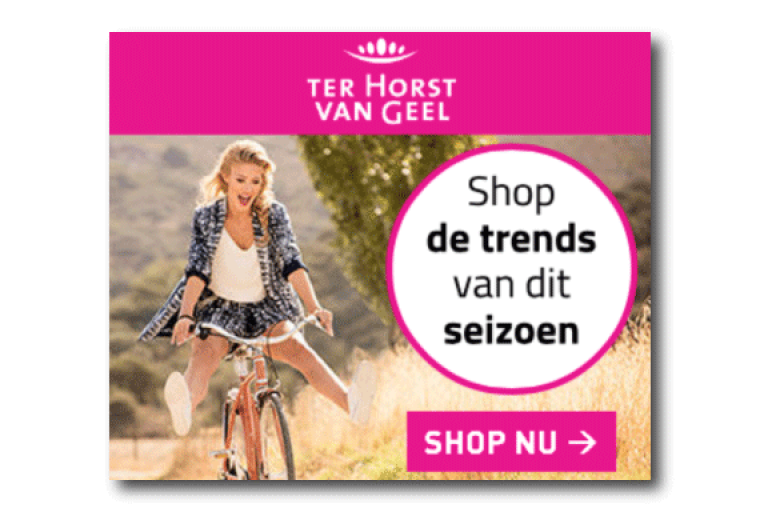 Ter Horst van Geel Shopping banner