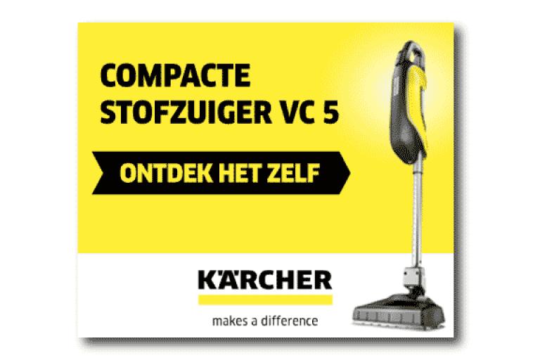 Compacte Kärcher stofzuigers display banner