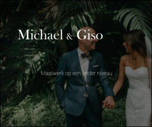 Banner voor Michael en Giso