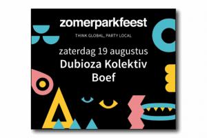 Zomerparkfeest Banner