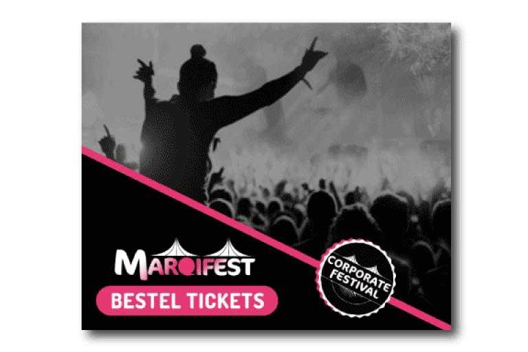 Bestel tickets voor Marqifest HTML5 banner casestudy